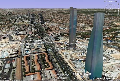 Google Earth 4, Madrid (Nuevos Rascacielos)