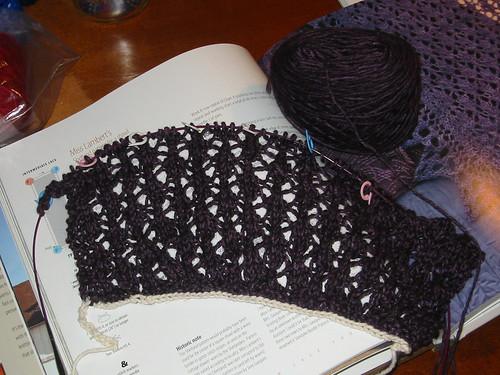 Shetland shawl start