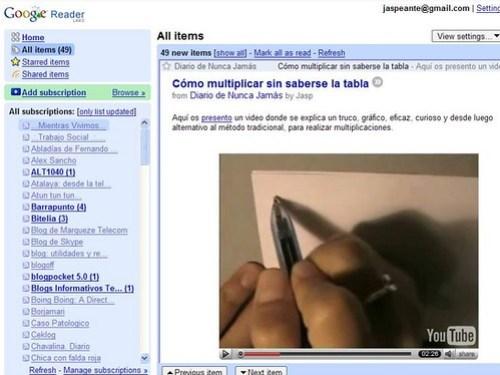 Integración de Videos en Greader