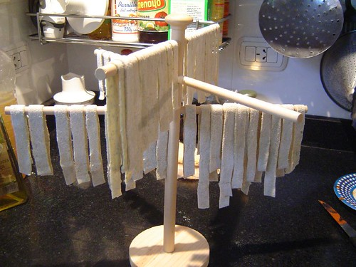 basil tagliatelle drying out