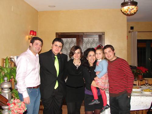 Con mis hermanos, Sonia y Anita