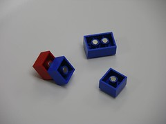 Lego magnets assembled