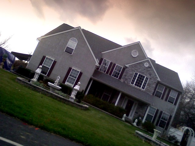 image of spooky mcmansion