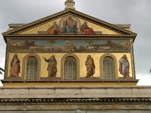 Image result for apostle paul Apostle's The facade mosaic is the work of Filippo Agricola and Nicola Consoni.