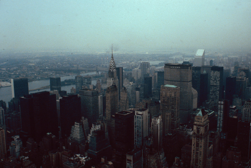 Midtown from the Empire State Building, New York, July 1980.