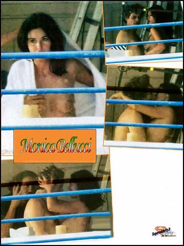 monica bellucci paparazzi en hotel