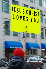 Jesus Christ Loves You  on Christmas day