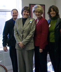 "IMG_3584: Kay, Irene, Senator Howell and Linda • <a style=""font-size:0.8em;"" href=""http://www.flickr.com/photos/54494252@N00/361246797/"" target=""_blank"">View on Flickr</a>"