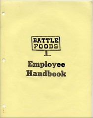 Battle Foods Employee Handbook Cover