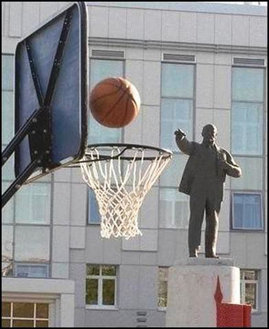 Lenin plying Basket Ball, from gandhiji40 in Flickr