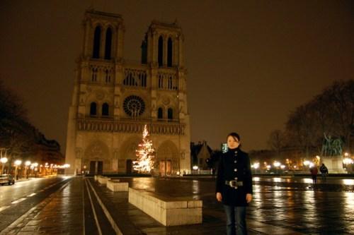 Exploring Paris at night
