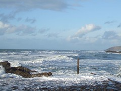The entrance to Bude Haven January 2007