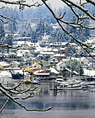Gig Harbor Village in the Snow
