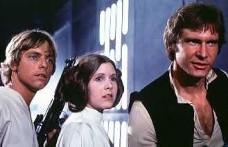 star wars -solo, luke y leia-