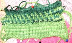 green socks swatch
