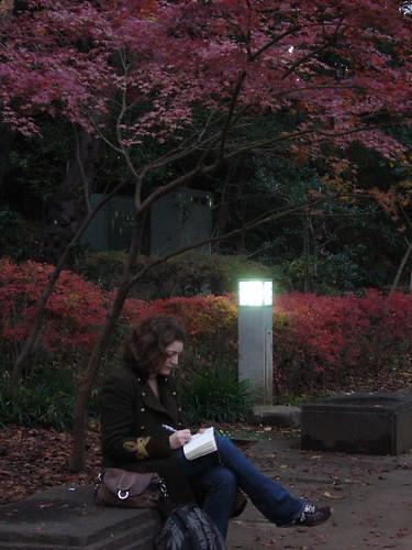 Liz in Ueno Park