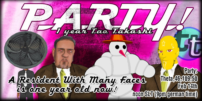 Tao Takashi RezDay Party Feb 14th, noon SLT