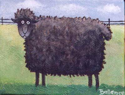 Millie Ballance black sheep painting
