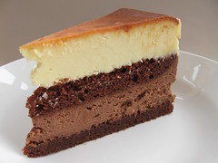 Dark and White Chocolate Cheesecake