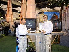 Comdex 2001 - booth studs