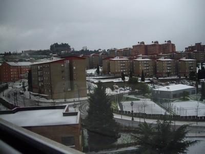 Nieve desde la ventana de mi salón