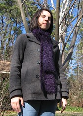purple muppet scarf