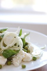 shaved fennel salad with ricotta & peas