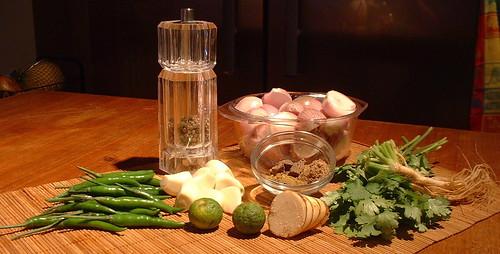 Ingredients Thai Green Curry Paste