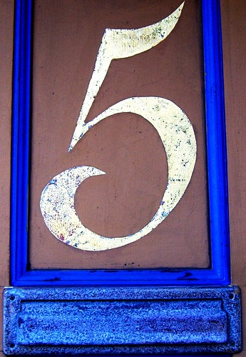 Lucky number 5 by Darwin Bell.