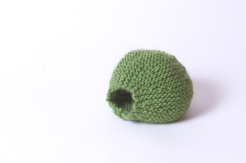 Knit Pea - Before Felting