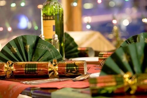 Christmas Dinner table at The Albert