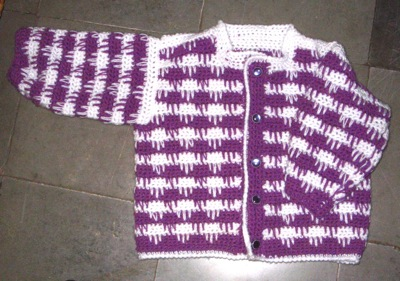 Spike stitch cardigan