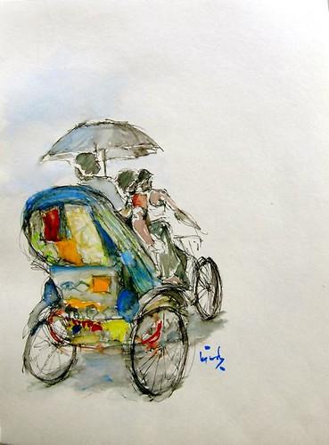 Colorful Rickshaws