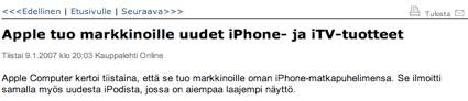 iTV ja uusi iPod
