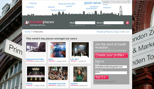 Trusted places new design