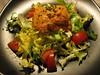 Mariona_Ensalada de bacalao marinado, escarola y romesco