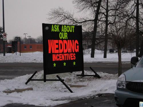 wedding incentives