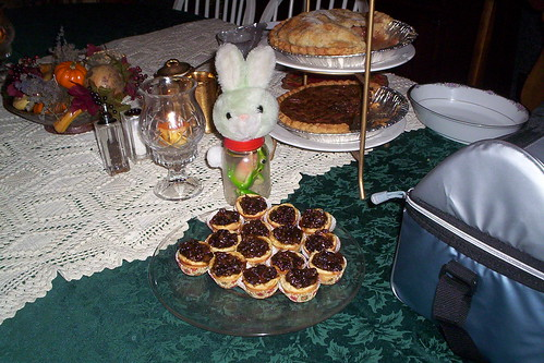 Bunny and sweet food
