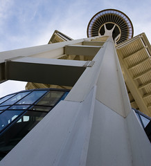 """IMG_5752: Looking Up the Space Needle • <a style=""""font-size:0.8em;"""" href=""""http://www.flickr.com/photos/54494252@N00/19419310/"""" target=""""_blank"""">View on Flickr</a>"""
