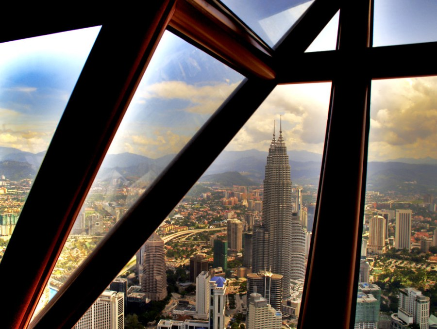 The Tallest Twin Towers in the World from a nearby Taller Tower, not a Twin itself