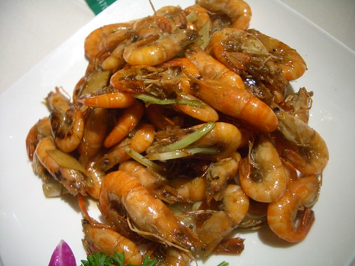 Augapfel 拍攝的油爆虾 Shrimp Stir Fried in Soy Sauce
