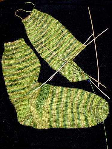 Lemongrass Sock progress