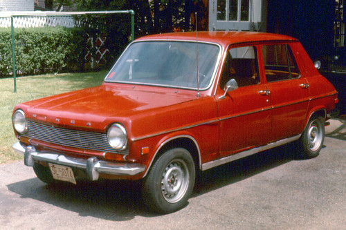 my Simca 1204 - picture taken 1975