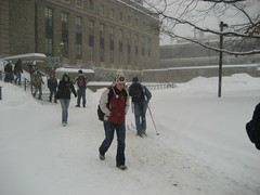 Skiing to Class