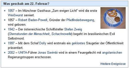 Weisswurst hat 150. Geburtstag