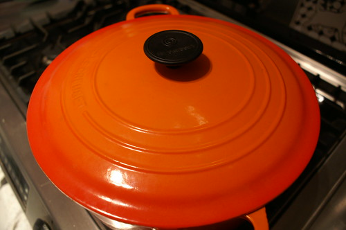 my orange le crueset dutch oven by amykatherine.