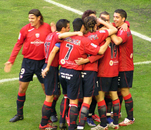 L'Osasuna celebrant un gol