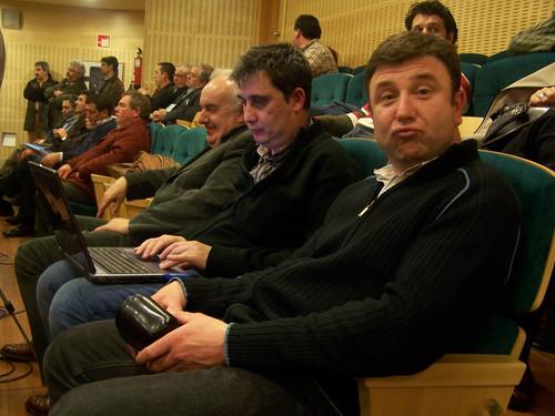 Alberto Doce, eu e Moisés Rey en Carballo