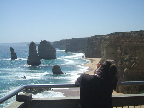 Me taking pictures of the Twelve Apostles