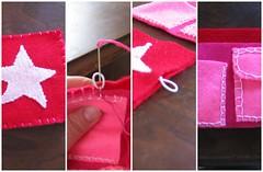 Sewing 123 star bi-fold wallet